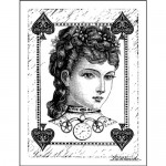 LaBlanche Silicone Stamp 3''X4''-Sweet Poker Face