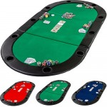 Dessus de table de poker table top pliant 3 parties 210 cm