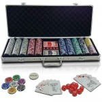 Jago - Mallette poker - PC500-Ultimate - 500 jetons - 2 jeux de cartes - dés - boutons dealer - coffre inclus